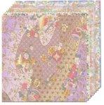 Origami Paper; Yuzen Pastel, 10 sheets/patterns, 5 7/8