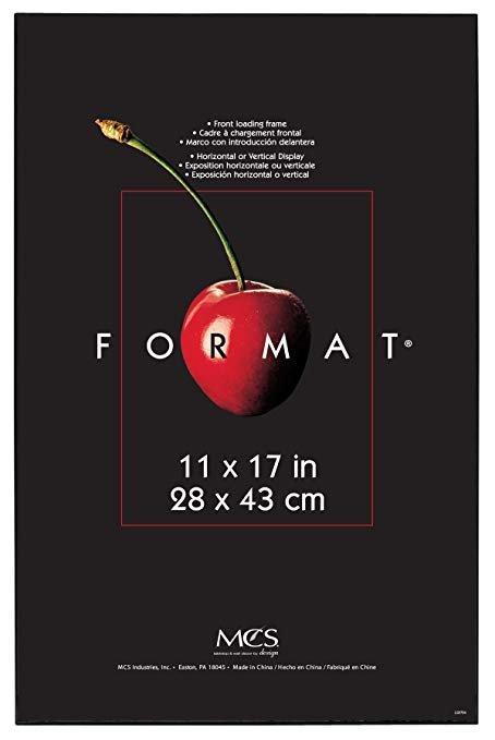 Original Poster Frame Black with Corrugated Cardboard Backing
