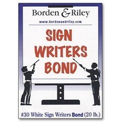 Borden & Riley 30W White Sign Writers Bond