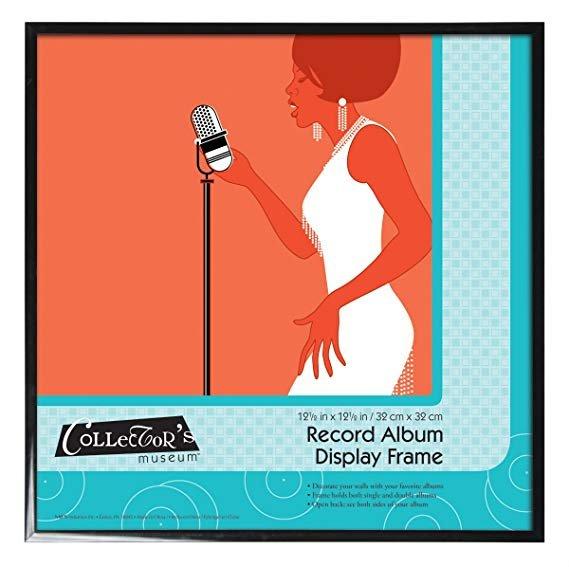 12.5x12.5 Black Aluminum Record Album Display