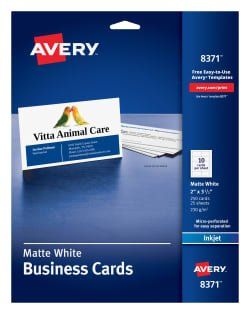 Avery White Business Cards
