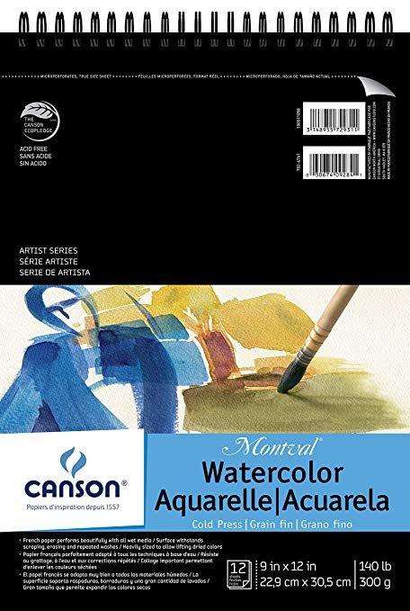 Artist Series Montval Watercolor Pad Spiral 12 sheets