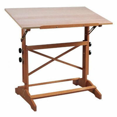 Alvin Pavillon Art and Drawing Table - Unfinished Wood Top