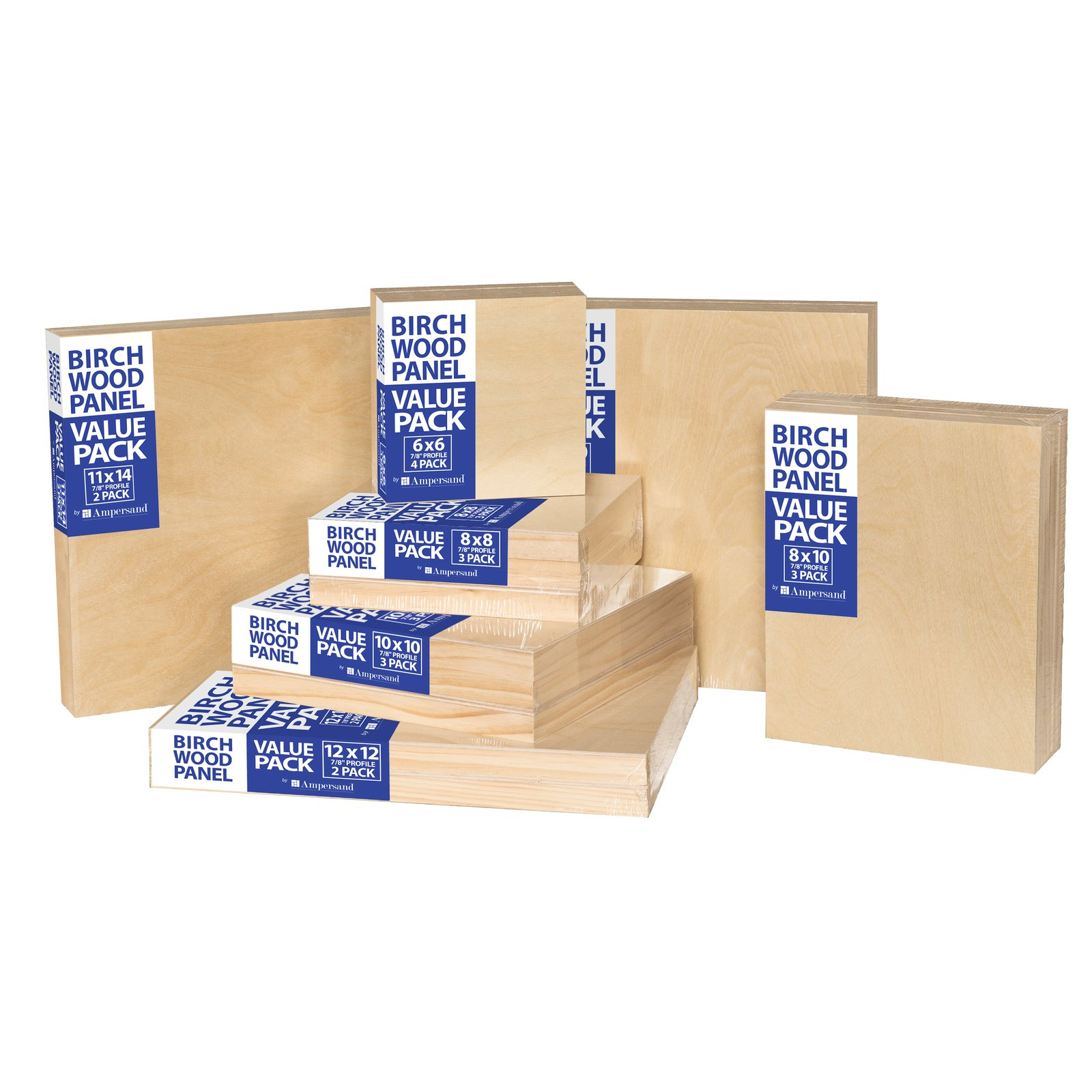 Birch Wood Panel Value Packs