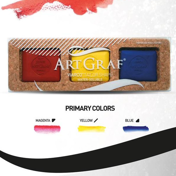 ArtGraf Tailor Shape Pigment Discs 3-Color Primary Colors Set