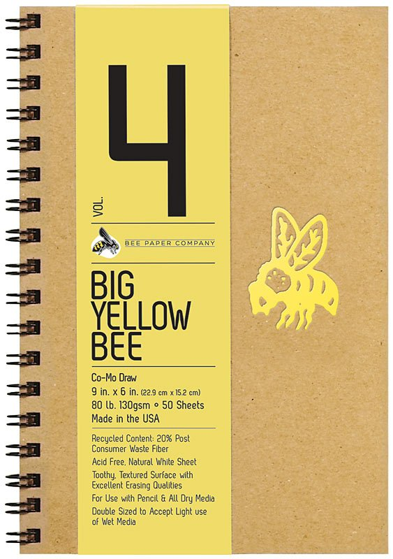 #4 Big Yellow Bee Como Drawing Sketch Journal