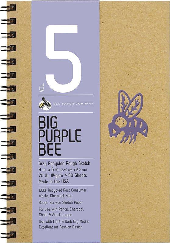 #5 Big Purple Bee Gray Bogus Sketch Journal