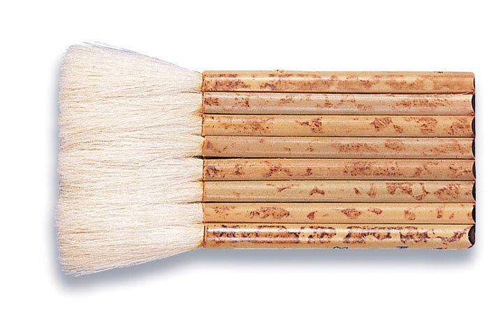 Pipe Handle Hake Brush Sheep hair 2 1/2