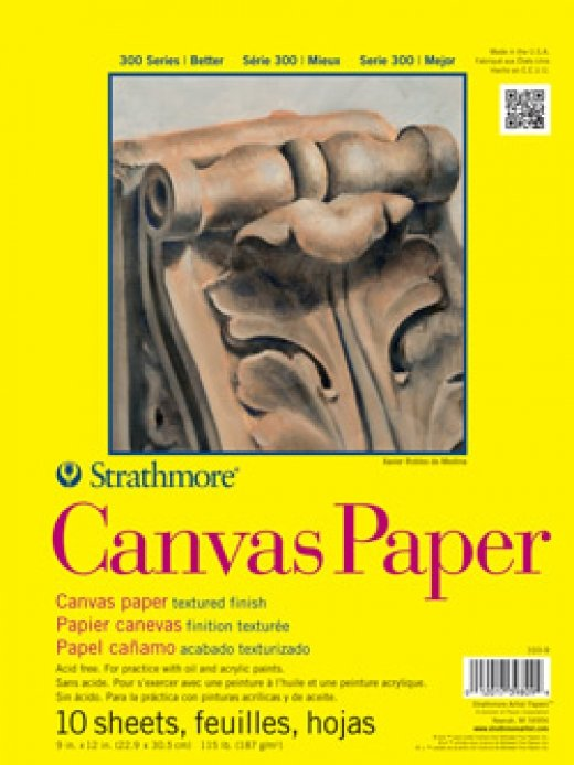 Canvas Black Paper Pad 300 Series