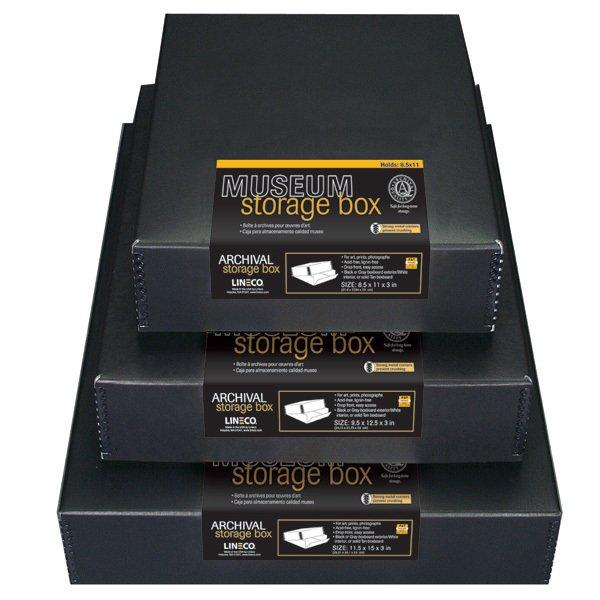 DROP FRONT ARCHIVAL BOXES BLACK