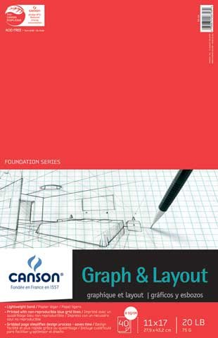 Foundation Cross Section Paper Pads 4/4 Grid