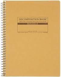 Coil-Bound Decomposition Sketchbook