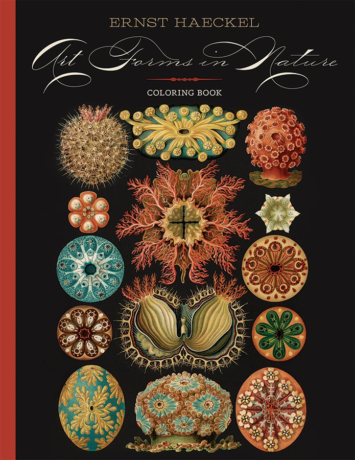 ERNST HAECKEL - ART FORMS IN NATURE COLORING BOOK