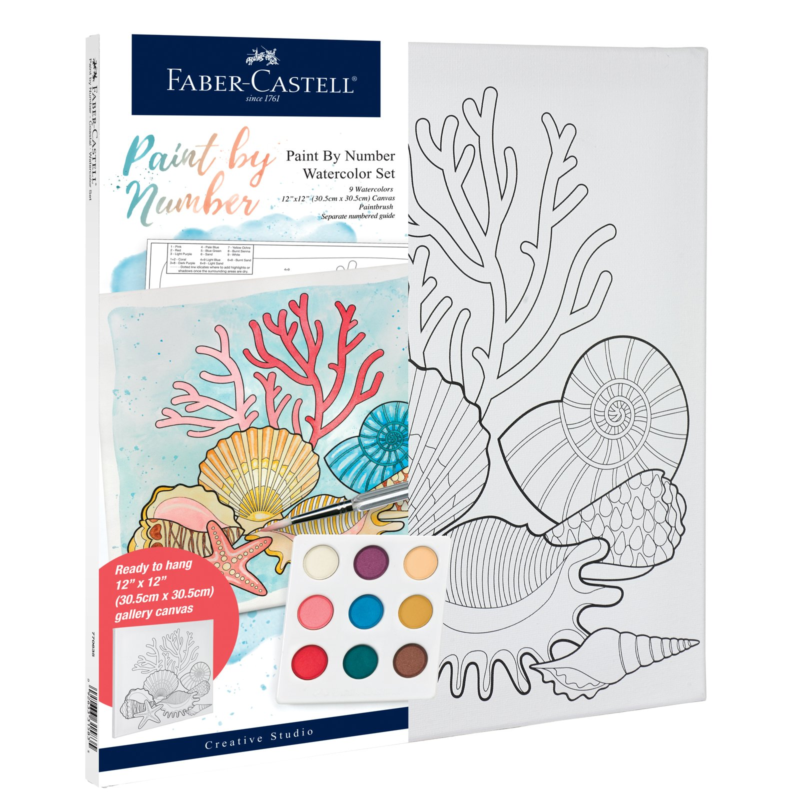 Paint By Number Watercolor Sets