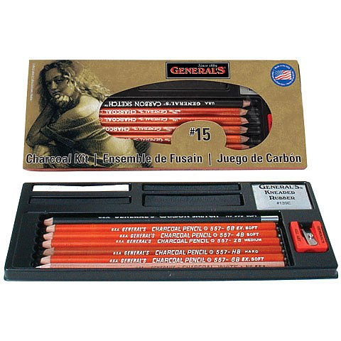Charcoal Pencil Drawing Kit No.15
