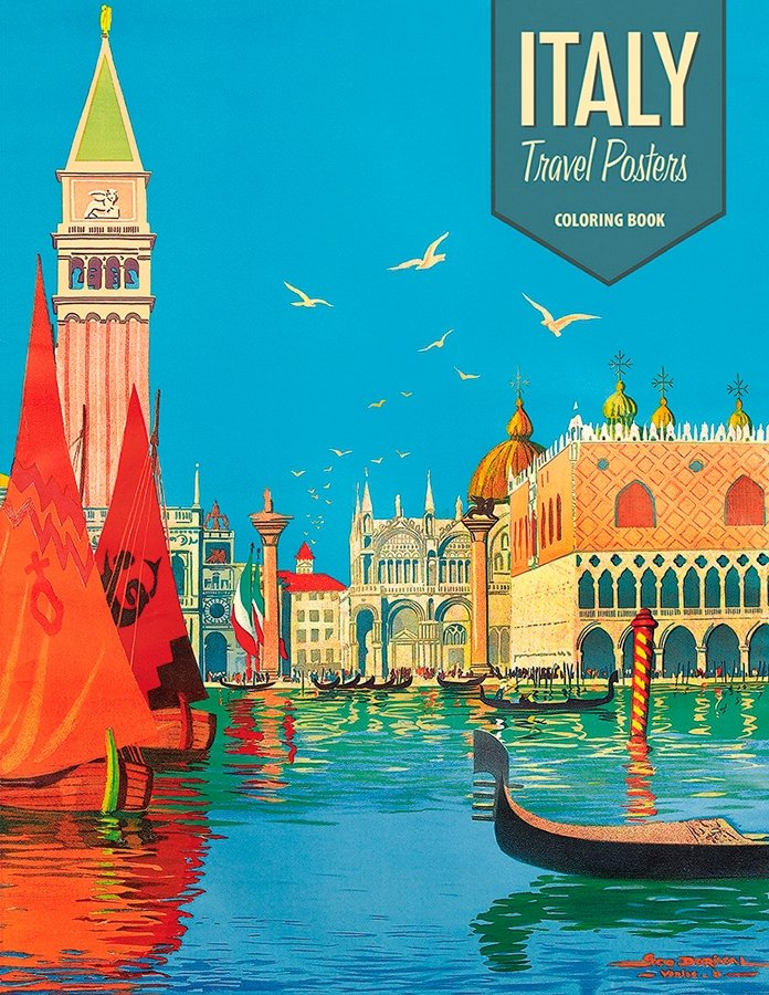 VINTAGE ITALIAN TRAVEL POSTERS COLORING BOOK