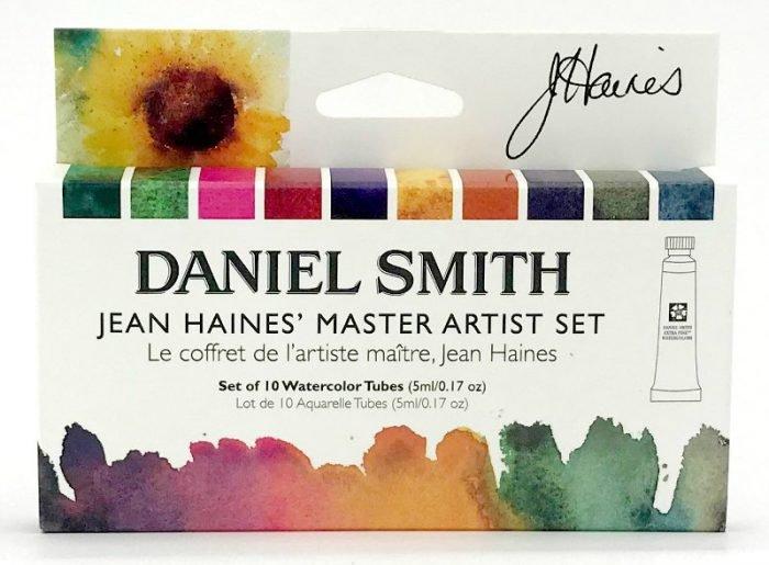 Jean Haines Watercolor Sets, 10-Color Master Artist's 5ml Set
