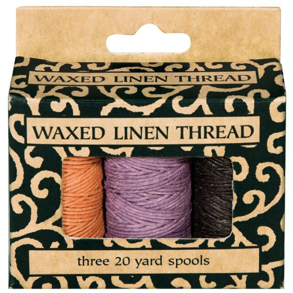 Waxed Linen Thread 3PK 20 yard rolls