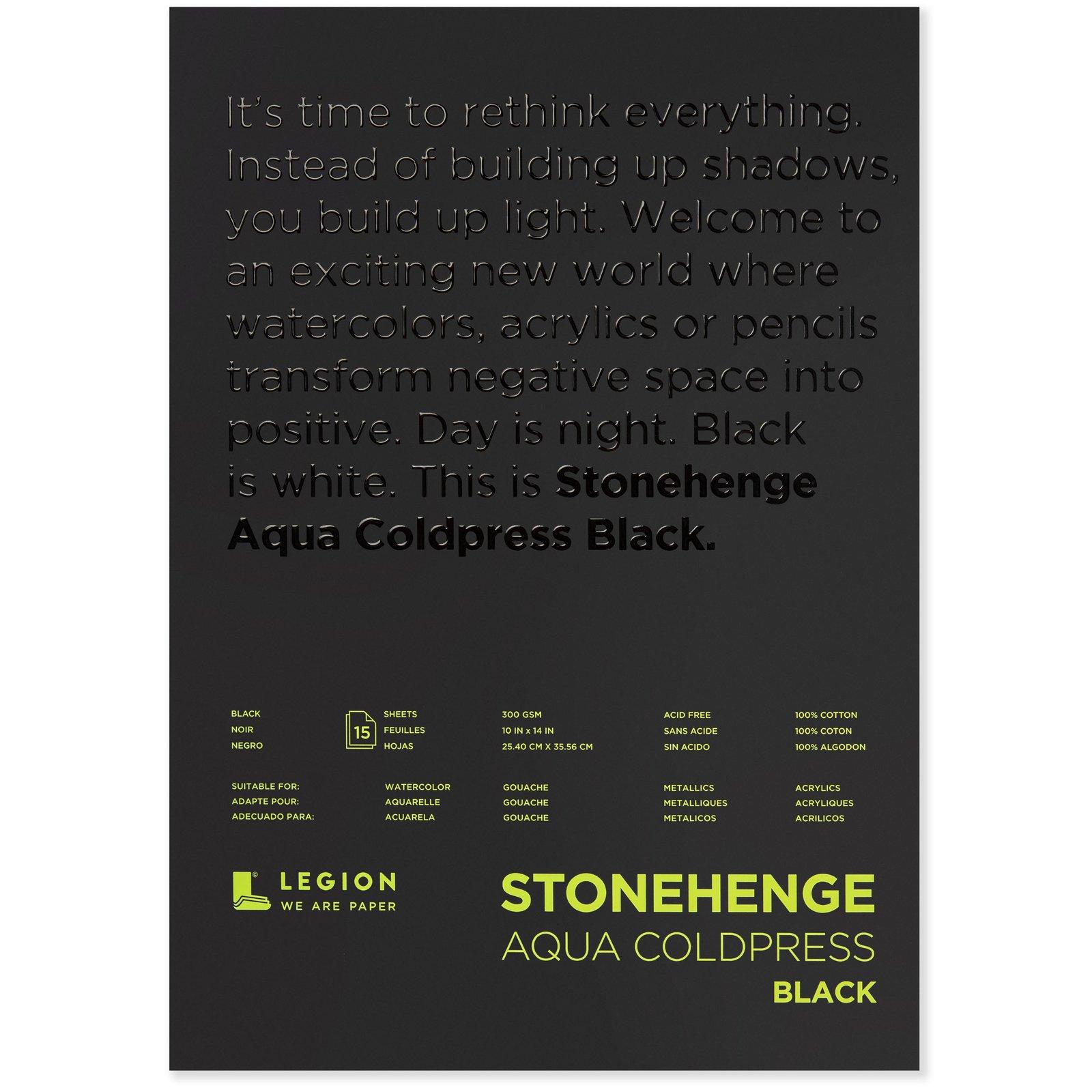 Stonehenge Aqua Black Watercolor Pad