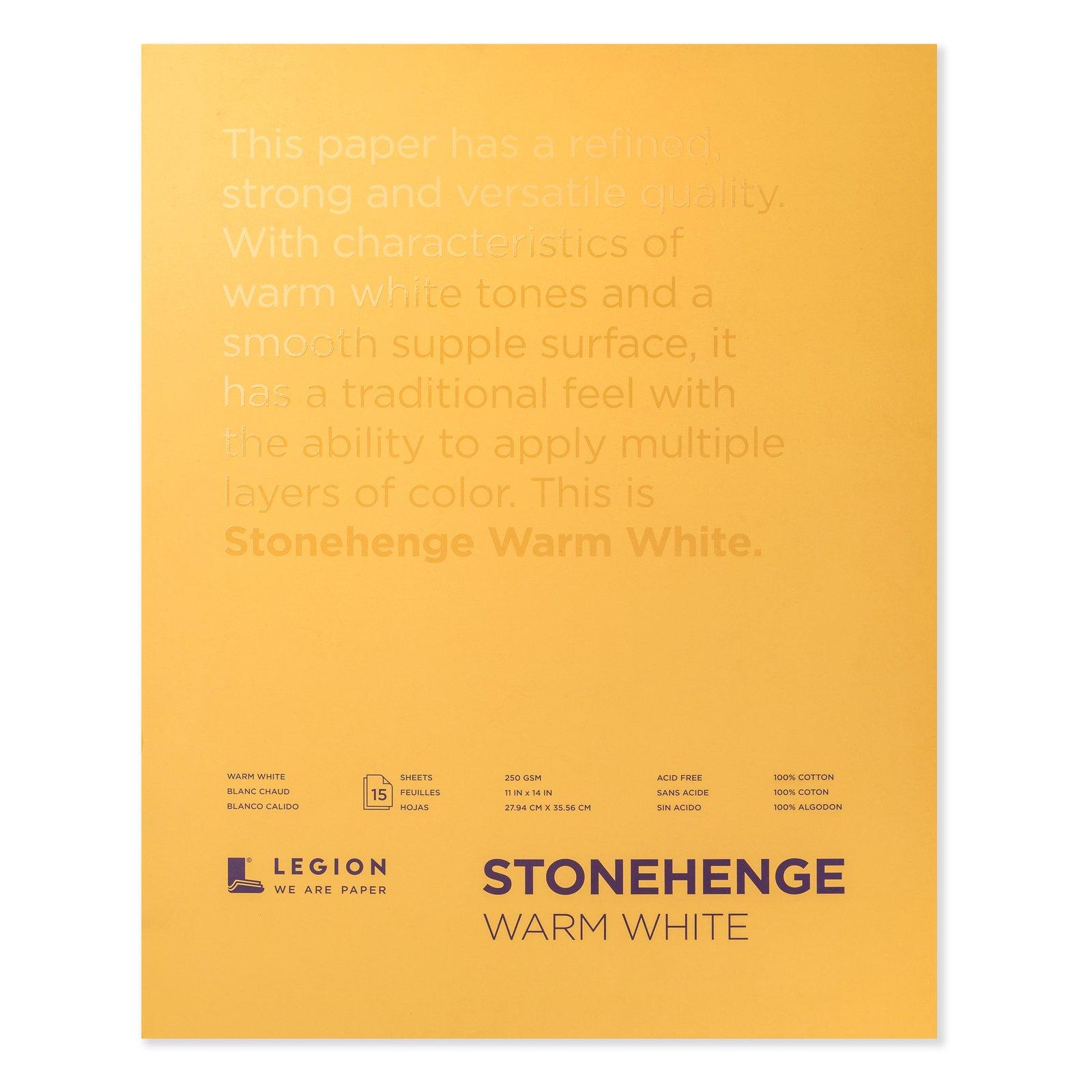 Stonehenge Warm White Paper Pads