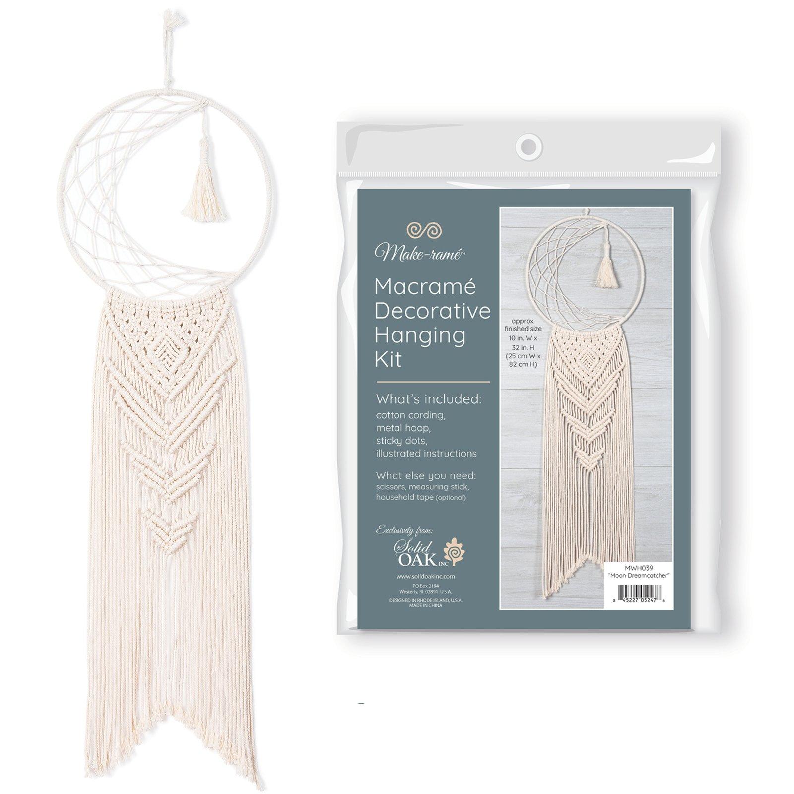 Moon Dreamcatcher Macrame Wall Hanging Kit