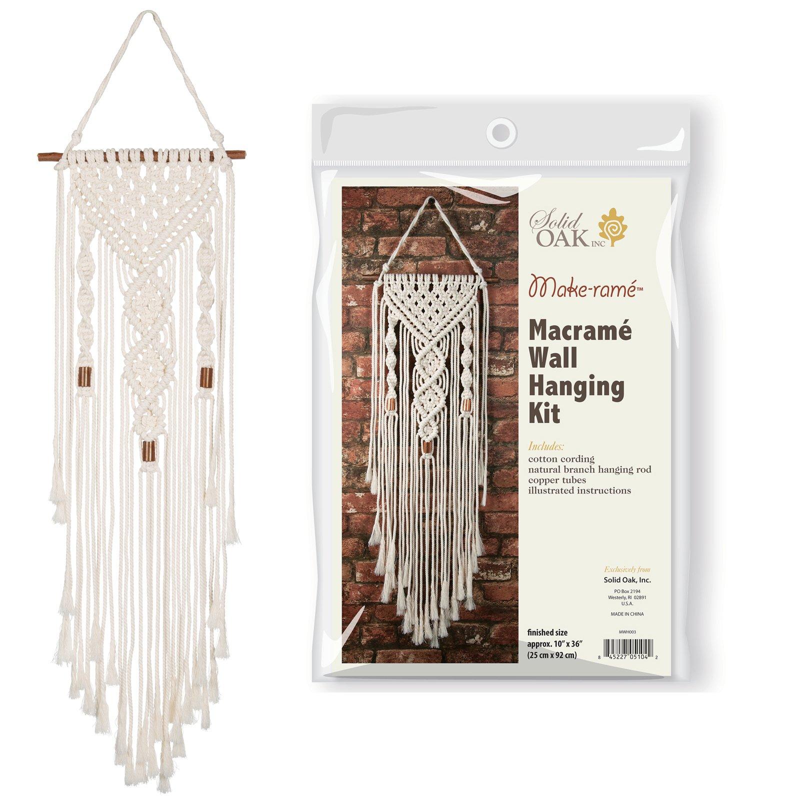 Double Twist Macrame Wall Hanging Kit