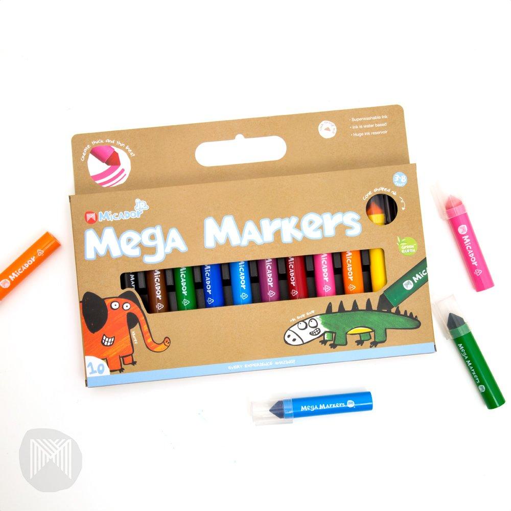 Micador Jr. Mega Markers 10 Color