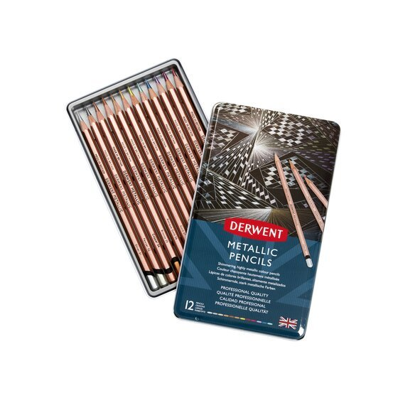 Derwent Metallic Pencil Set