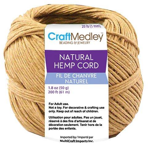 Craft Medley Hemp Cord, 48 lb. 100 ft.