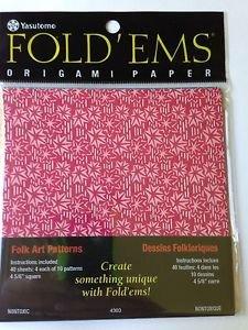 Origami Paper; Folk Art, 40 sheets, 4 5/8