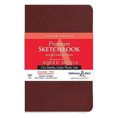 Alpha Series Premium Soft-Cover Sketch Books