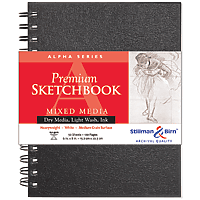 Alpha Series Premium Hard-Cover Sketch Books Wire-Bound