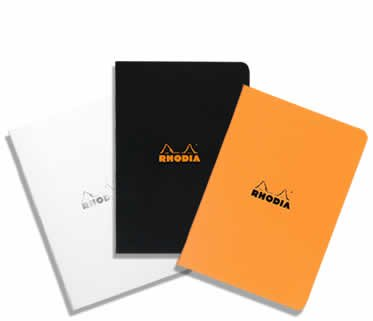 Rhodia Lined Staplebound Notepad