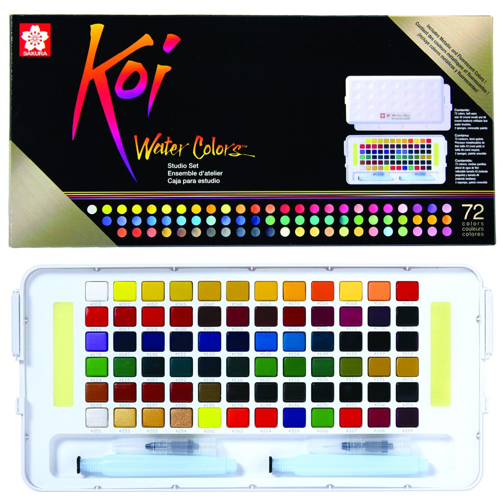 Koi Watercolors Studio Sketch Box Sets