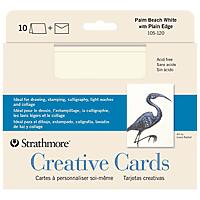 Creative Cards, Full Size 5 x 6.875, Palm Beach White 10/Pkg.