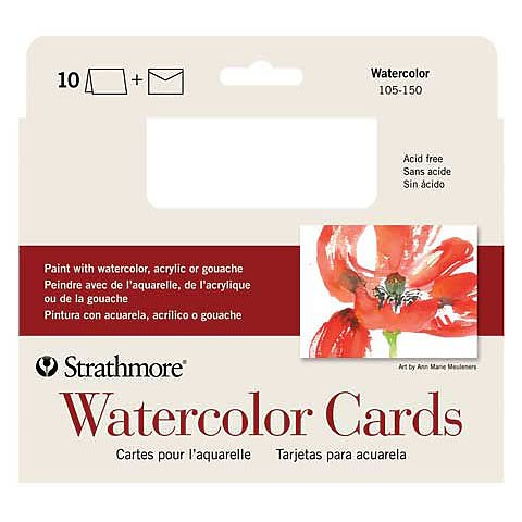 Blank Watercolor Cards with Envelopes