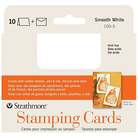 BLANK STAMPING CARDS SMOOTH BRIGHT WHITE WITH ENVELOPES