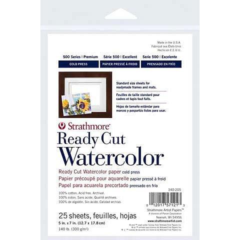 Ready Cut Watercolor Sheets - Hot Press