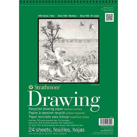 DRAWING PAD RECYCLED 400 SERIES SPIRAL-BOUND 24SHTS
