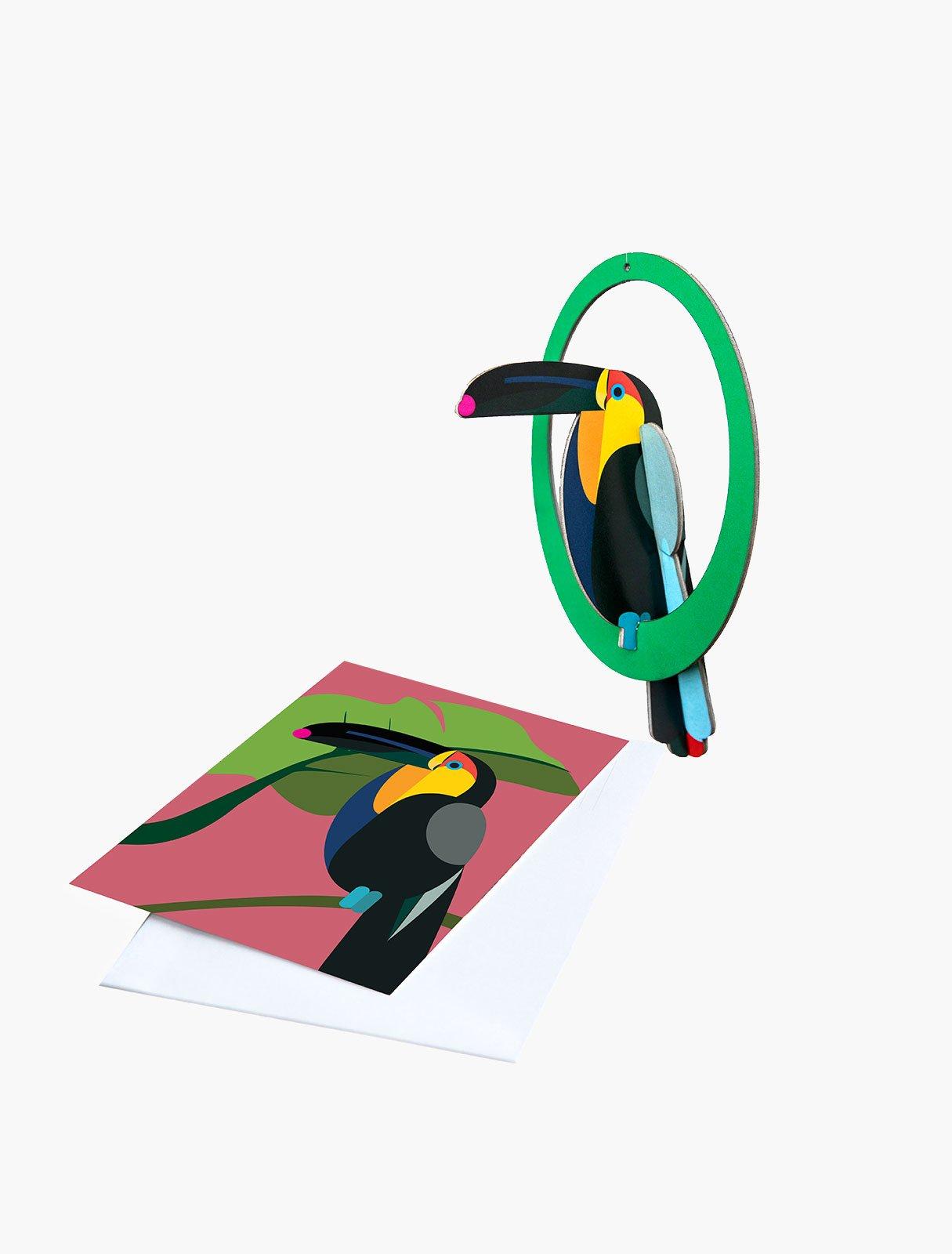 Paradise Birds Pop Out Mobile Cards