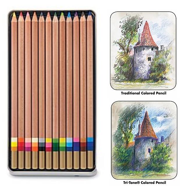 Koh-I-Noor Tri-tone Pencil Sets