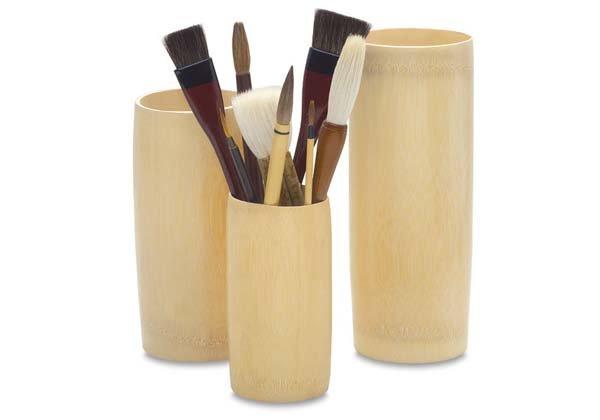 Bamboo Brush Holder