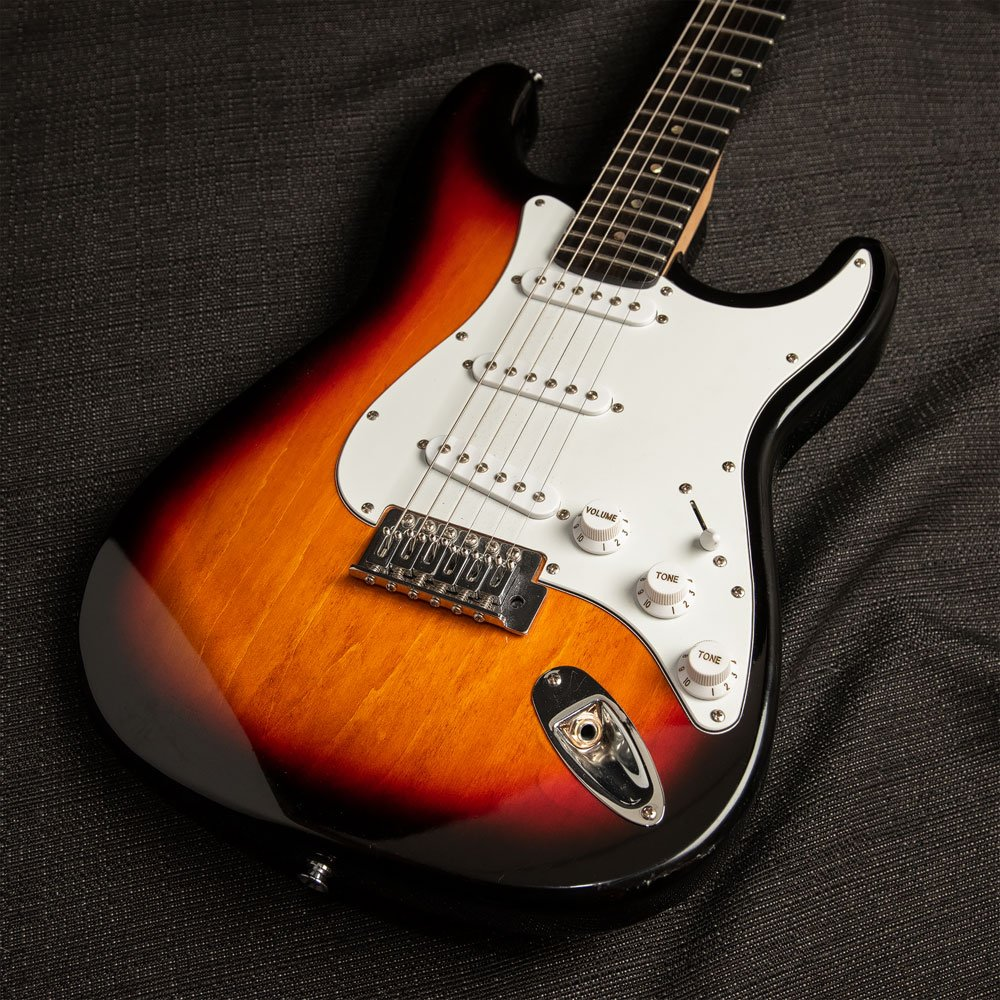 USED Fender Stratocaster MIM Sunburst with Musikraft neck