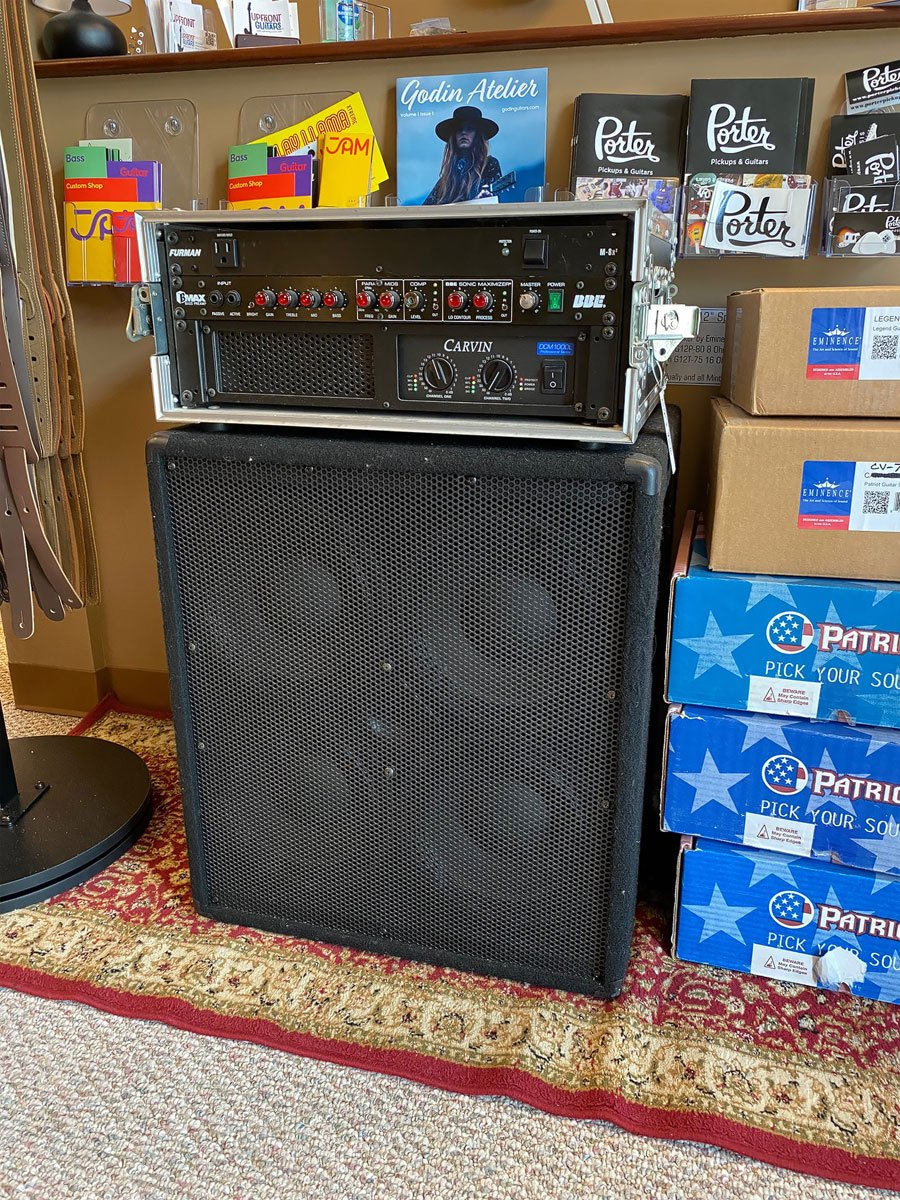 USED Carvin Amp, BBE bass preamp and 4x10 Cab