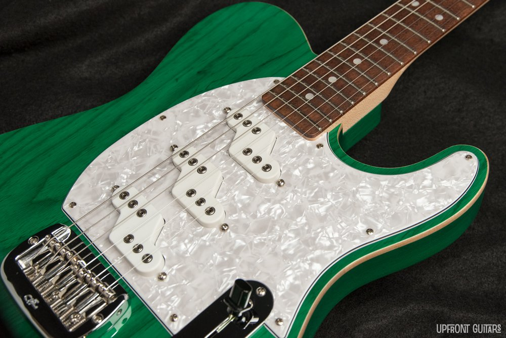 Used G&L ASAT Z-3 Clear Forest Green