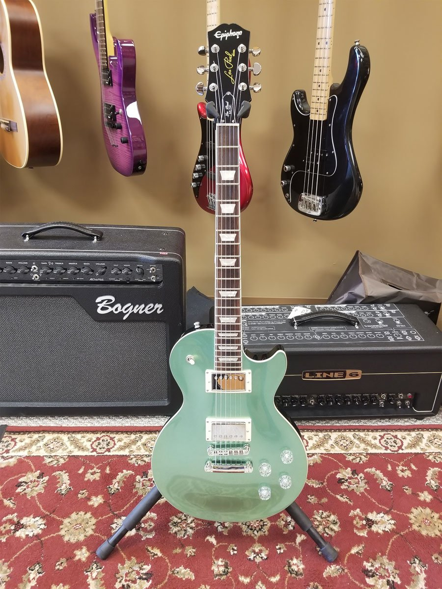 USED Epiphone Les Paul Muse Green Sparkle