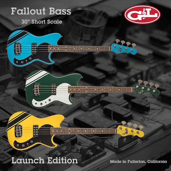 G&L Fallout Short Scale Bass - Pre Order NOW!