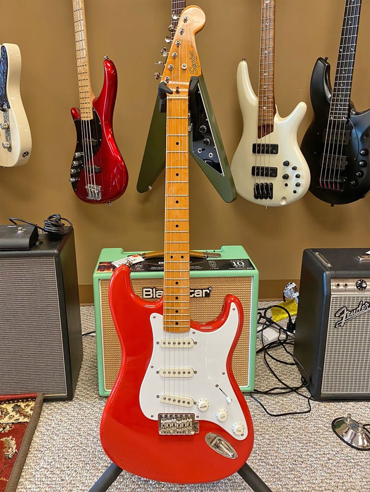 USED Fender Squier 50's Classic Vibe Stratocaster Fiesta Red