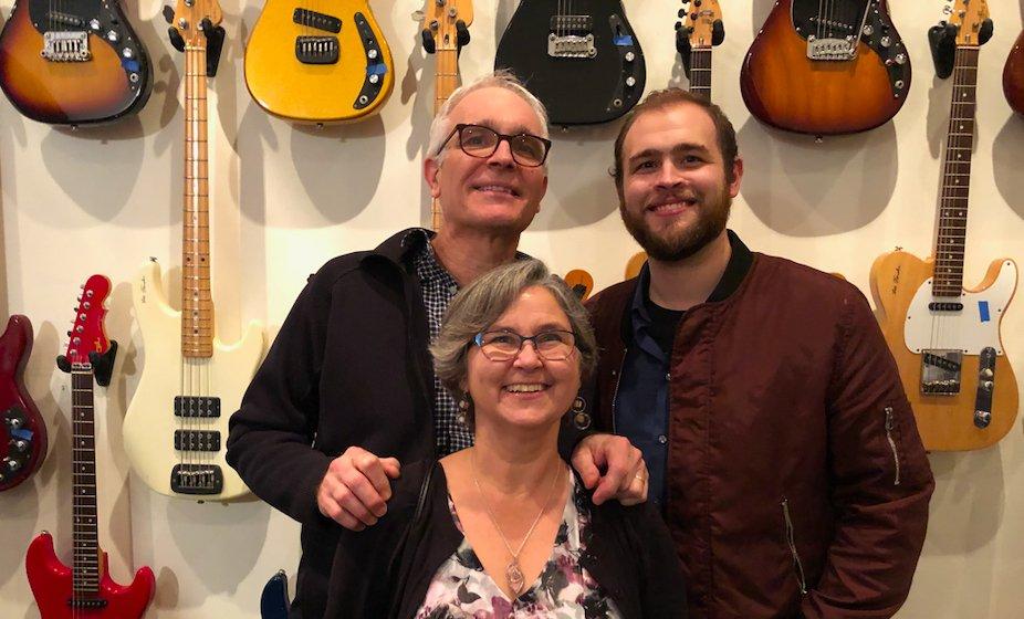 UpFront Guitars Team ~ Gordon, Gwyn, and Eric