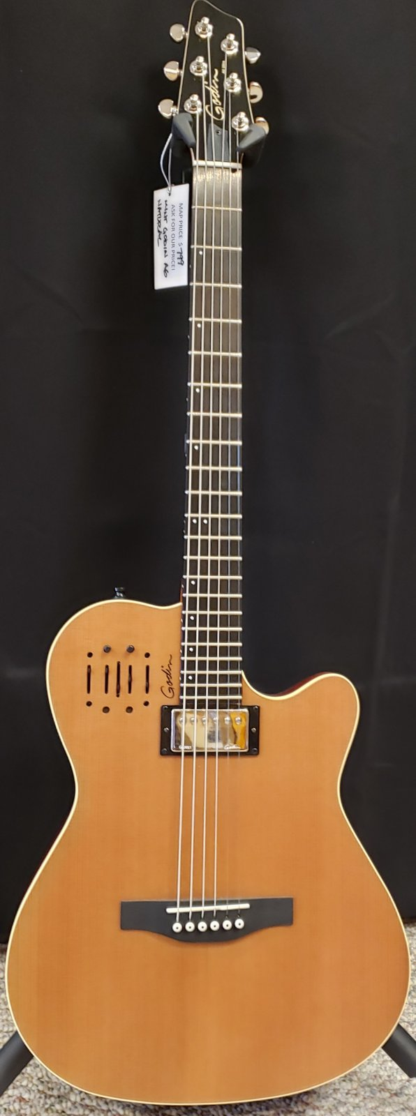 USED Godin A6 Ultra Natural Mint w/bag